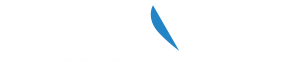 Transparent logo of Yumkas, Vidmar, Sweeney & Mulrenin with white lettering and a blue and white logo.