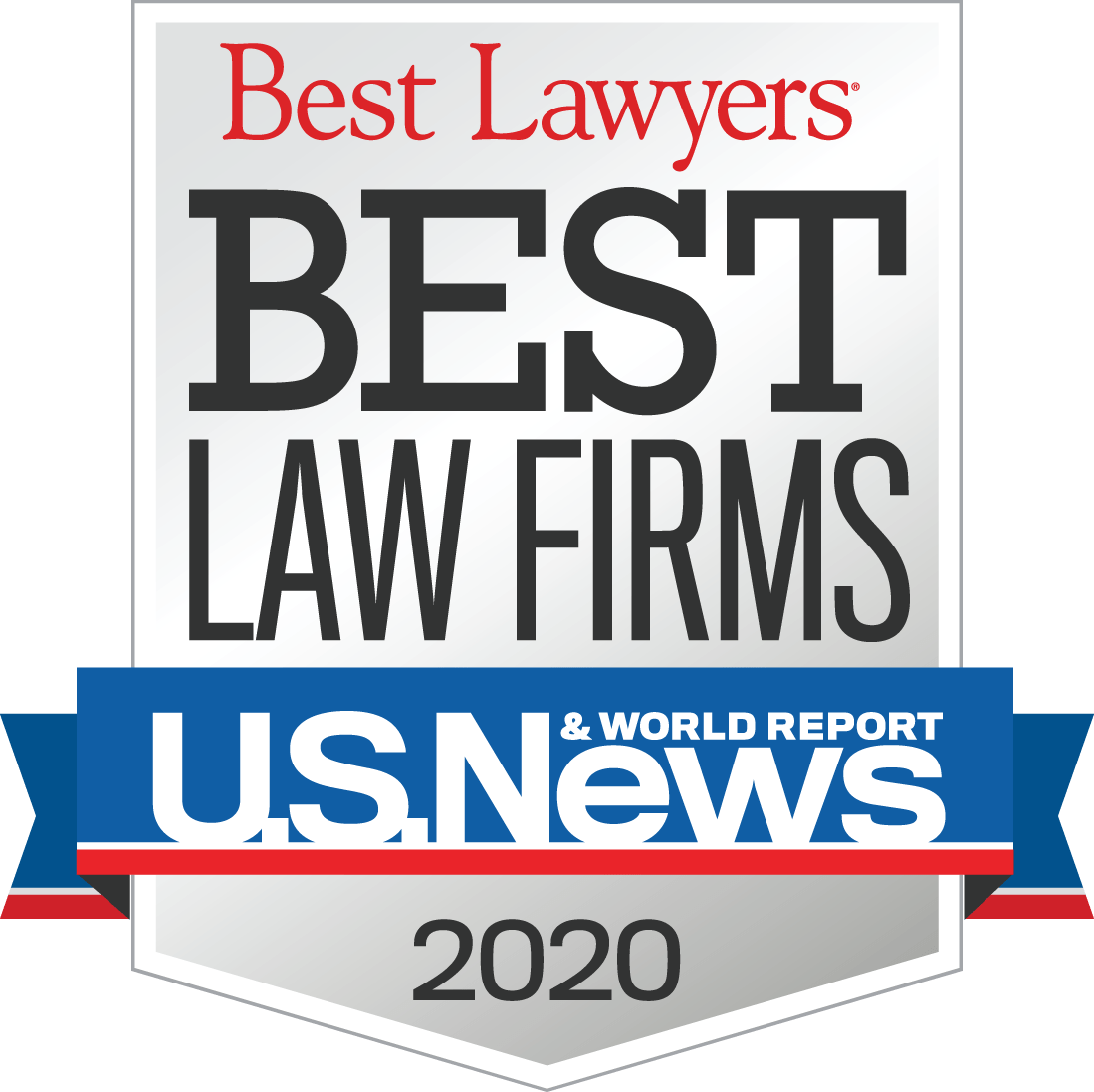 Badge for Best Lawyers Best Law Firms of 2020 for which YVSM was nominated for.