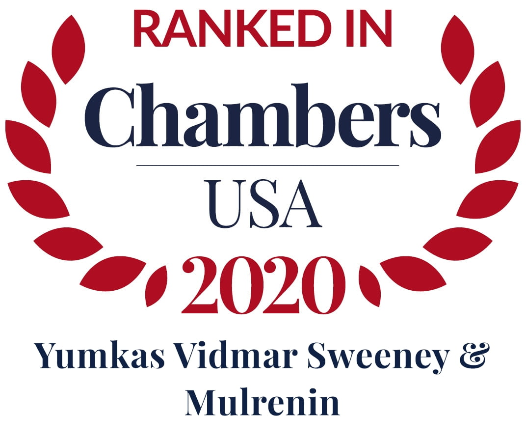 Logo of Chambers USA in which YVSM Law was ranked in for 2020.
